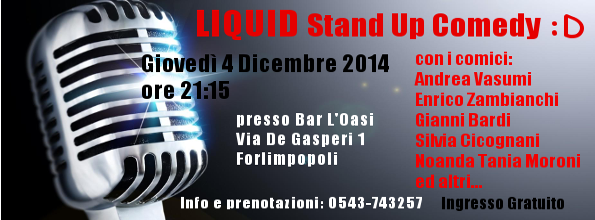 Liquid Stand Up @ L'Oasi Bar Forlimpopoli