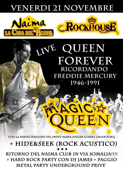 Concerto Magic Queen Venerdì 21 novembre